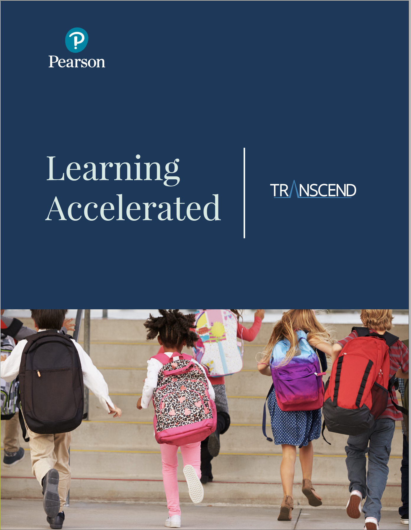 Transcend Brochure Cover - Text: Learning Accelerated