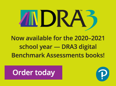 DRA3 Now available for the 2020-2021 school year - DRA3 digital Benchmark Assessment books! Order today button