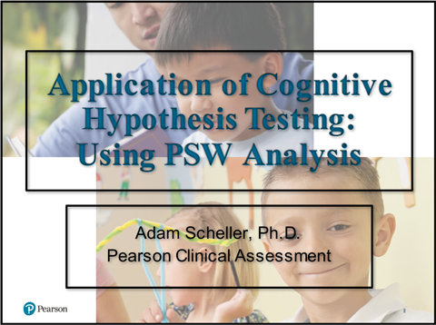 Application of cognitive hypothesis testing