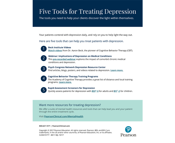 Five Tools for Treating Depression