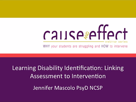 Learning disability identification