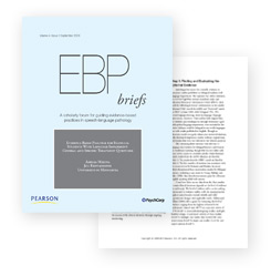 Evidence-based practice briefs
