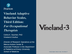 Vineland-3 overview: for occupational therapists
